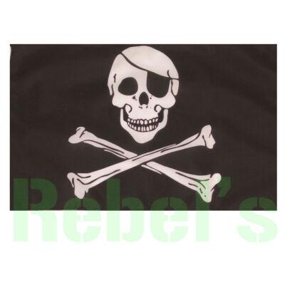 FÉLSZEMŰ KOPONYA Zászló , nagy méretű