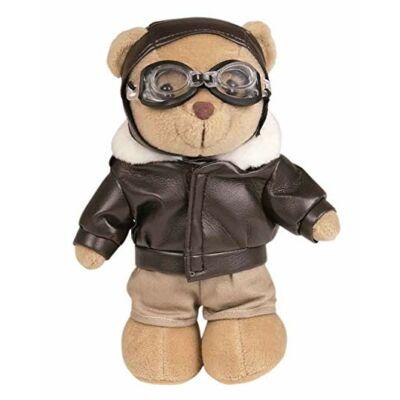 TEDDY BEAR MACKÓ , PILÓTA , 20 CM-es