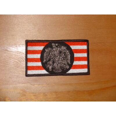 Á.sávos zászló turullal (fekete), felvarró